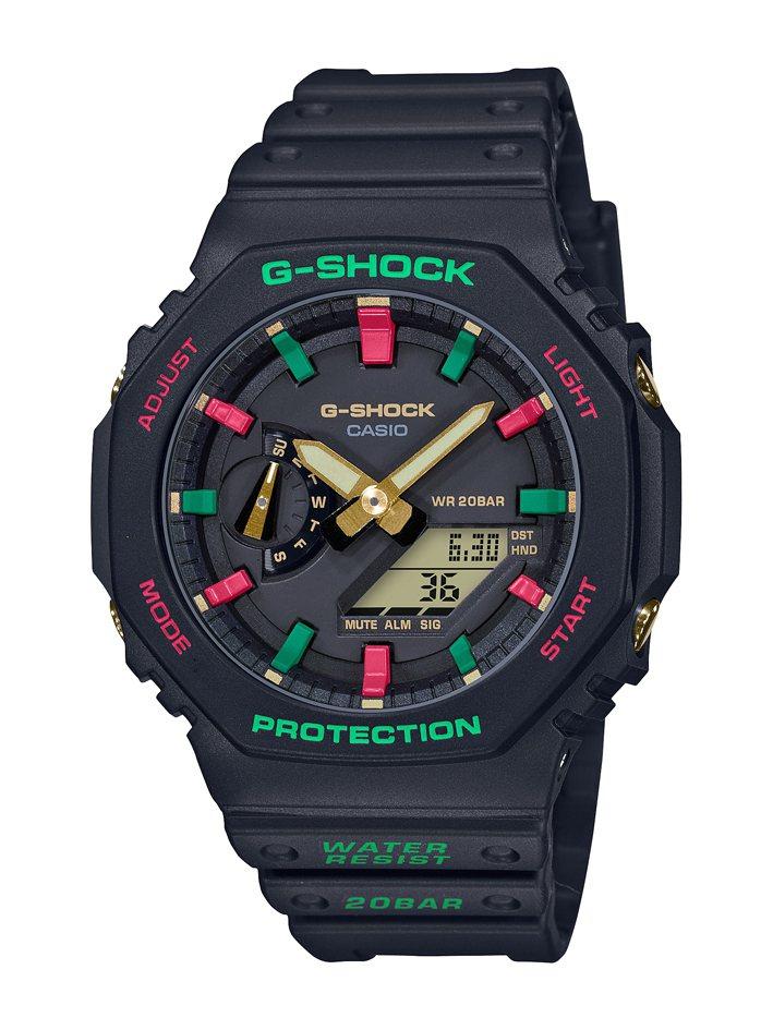 G-SHOCK GA-2100TH-1腕表3,600元。圖/CASIO提供