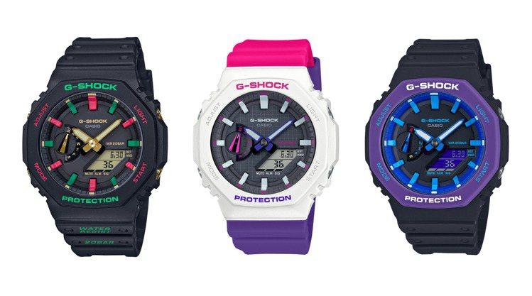 延續熱賣的高人氣,G-SHOCK在推出全新配色的GA-2100系列腕表。圖/CA...