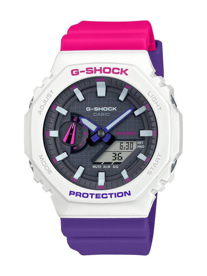 G-SHOCK GA-2100THB-7A腕表3,600元。圖/CASIO提供