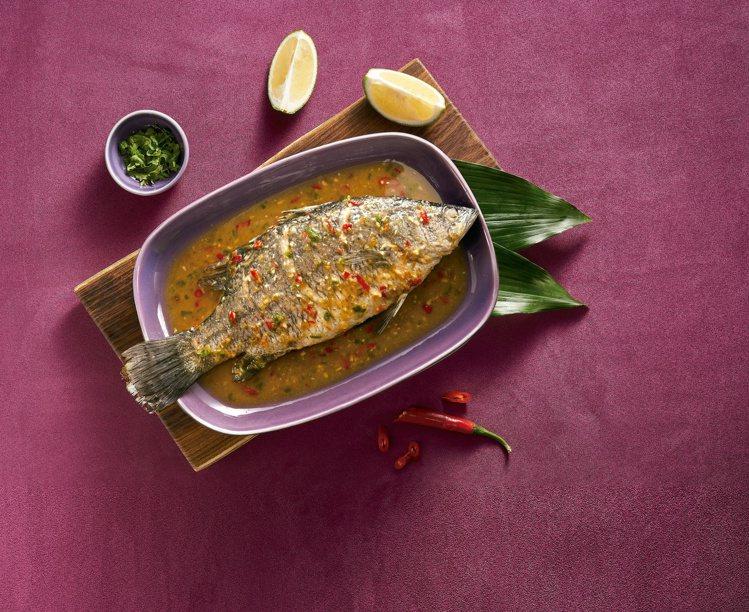 7-ELEVEN年菜預購推出「Nara Thai檸檬魚」,售價499元。圖/7-...