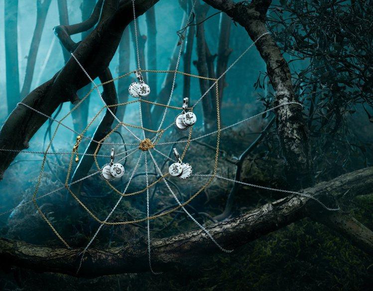 哈利波特中,霍格華茲的四大學院,也有串飾珠寶。圖/PANDORA提供