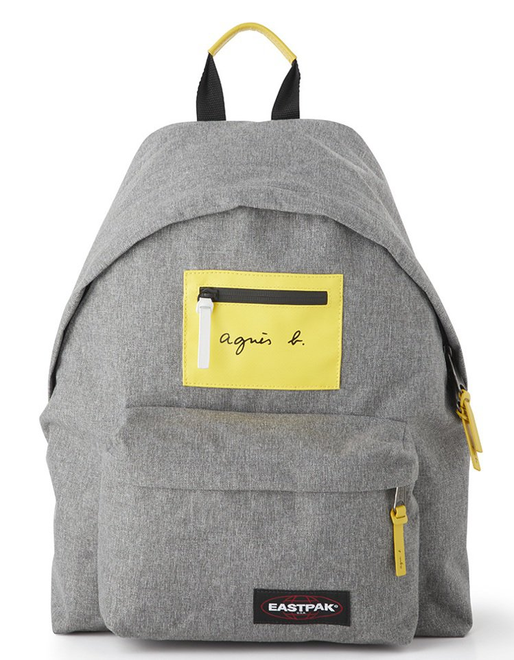 agnès b. VOYAGE X EASTPAK 灰色後背包,5,580元。圖...