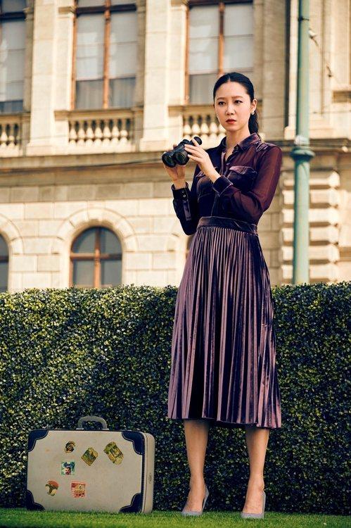 孔曉振也曾穿著MARYLING洋裝拍攝廣告。圖/取自ssg.com