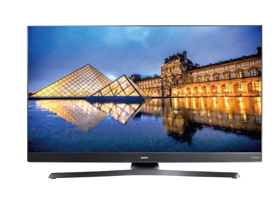 SAMPO 55型4K轟天雷聯網LED顯示器+視訊盒,市價23,900元、全國電子Digital City特價9,900元,每店限量10台、限陳列品。圖/全國電子提供