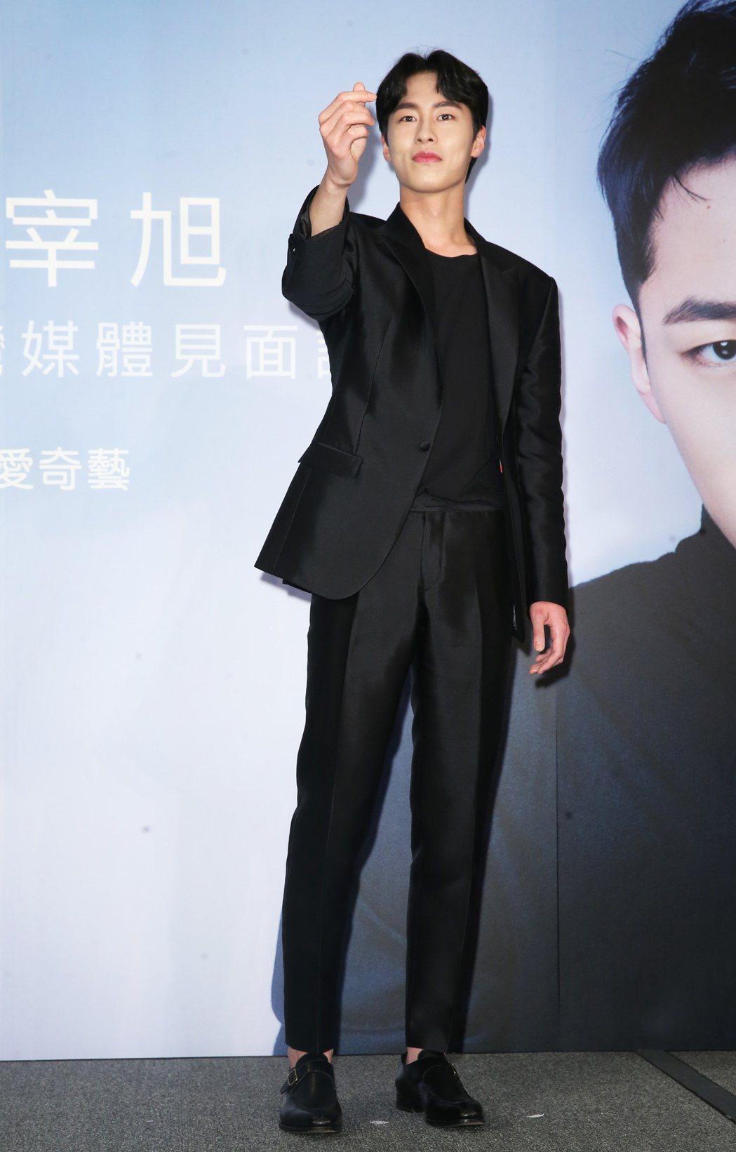 南韓男星李宰旭今天首度訪台。記者徐兆玄/攝影