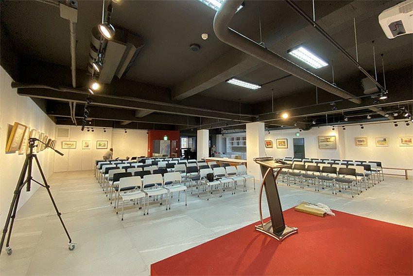 馬可威藝術中心、開幕茶會現場。 乙泰企業/提供