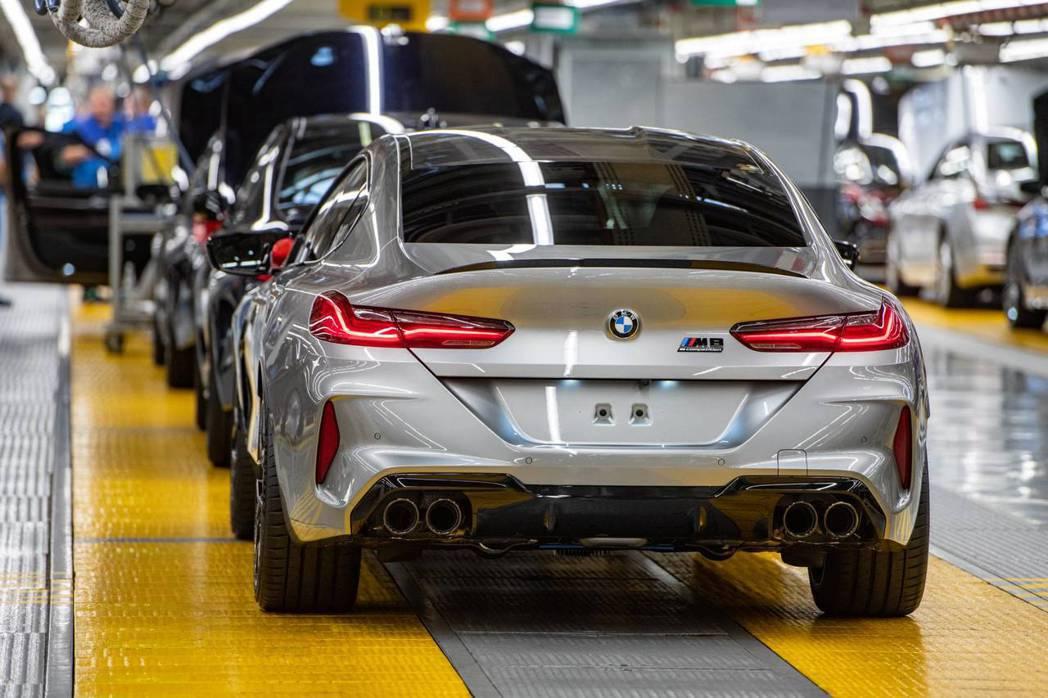 全新BMW M8 Gran Coupe預計將於明年一月開始發售。 摘自BMW