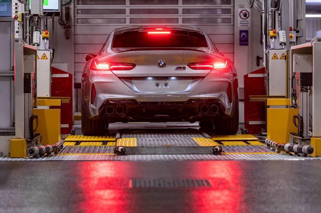 全新BMW M8 Gran Coupe已正式投產。 摘自BMW