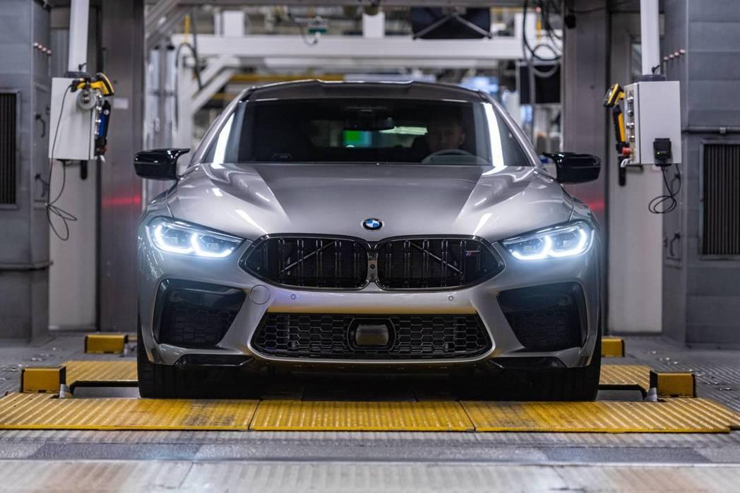 全新BMW M8 Gran Coupe最大馬力可輸出600hp,若是Compet...