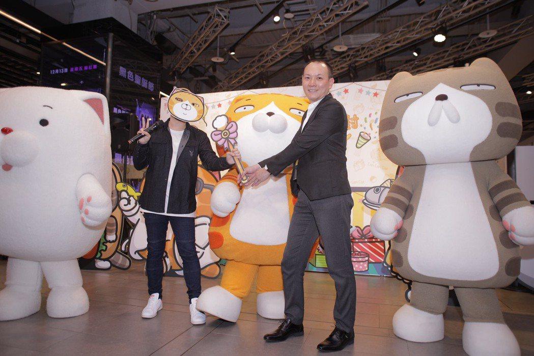 雙緯企業攜手白爛貓進軍三創生活園區,打造最強耶誕玩轉派對。 雙緯企業/提供