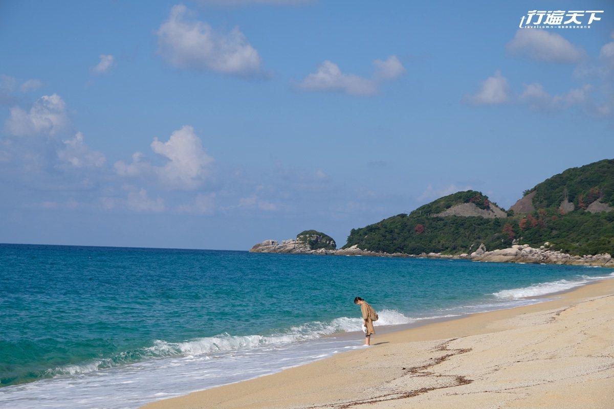 屋久島上的美麗海洋。