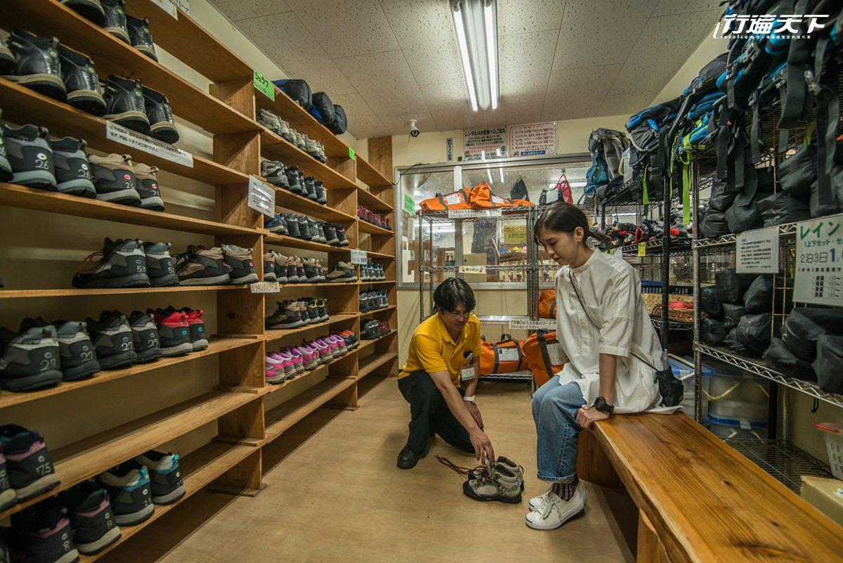 觀光中心內任何的登山用品都可簡單租借。