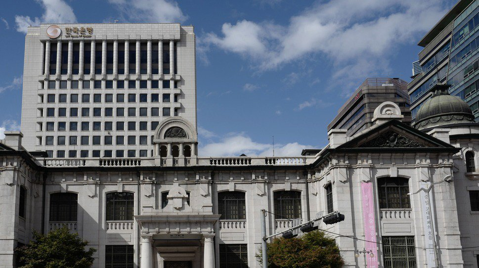 南韓中央銀行。歐新社