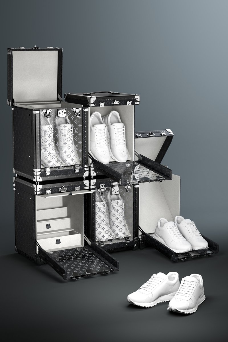 路易威登運動鞋鞋盒可垂直堆疊或水平放置。圖/LV提供