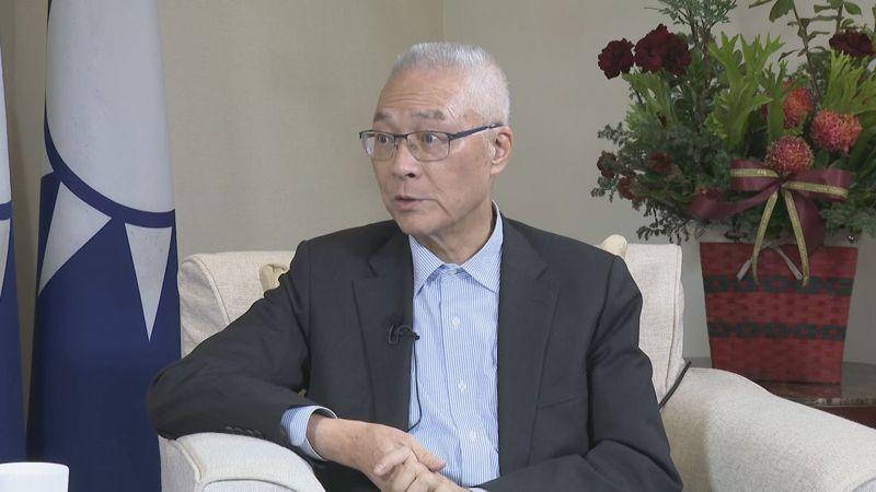 國民黨主席吳敦義今天接受聯合報「2020政在選」專訪。記者陳聖文攝影