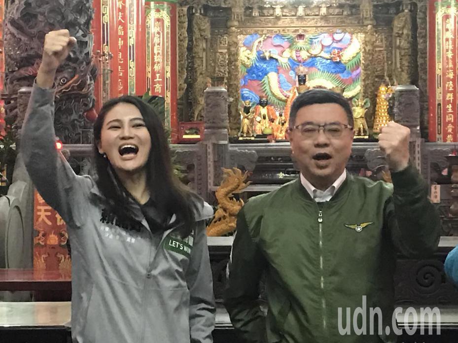 民進黨主席卓榮泰傍晚到瑞芳,為賴品妤助選,他把這區定位成新人的衛冕區,要讓賴品妤登上衛冕者寶座。記者吳淑君/攝影