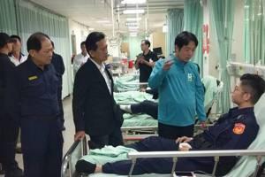 影/特勤支援警力車禍台南5警受傷 賴清德到院慰問