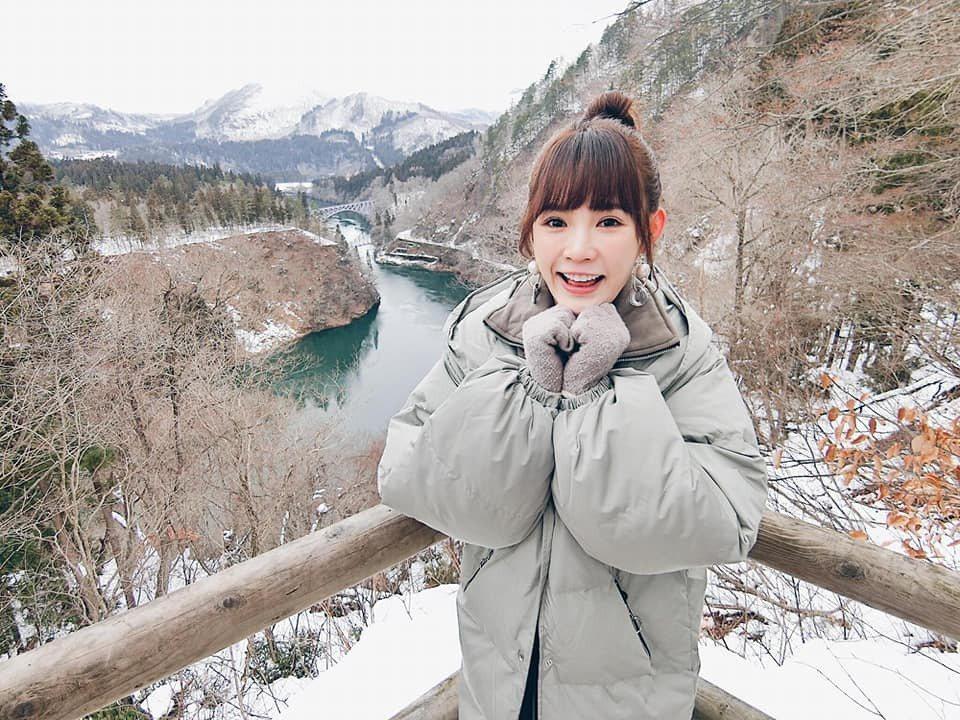 吳心緹擔任日本東北鐵道只見線應援大使,日前受邀赴日體驗東北美景。圖/傳遞娛樂提供