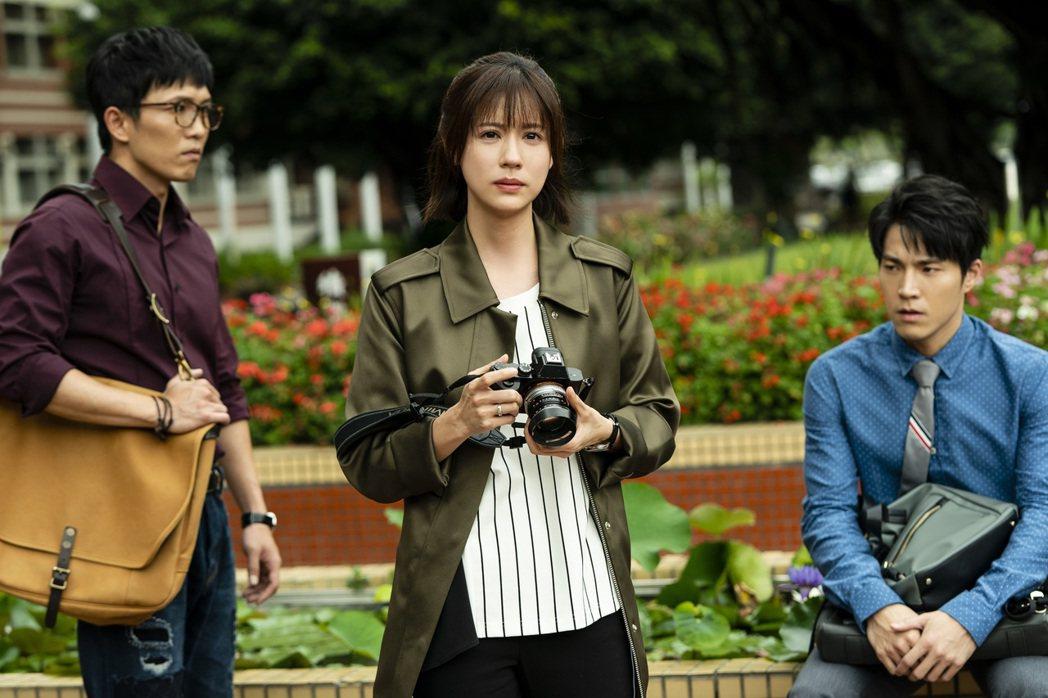 黃尚禾(左起)、林予晞、唐振剛3人在「天堂的微笑」戲中是一起長大的好朋友。圖/T...