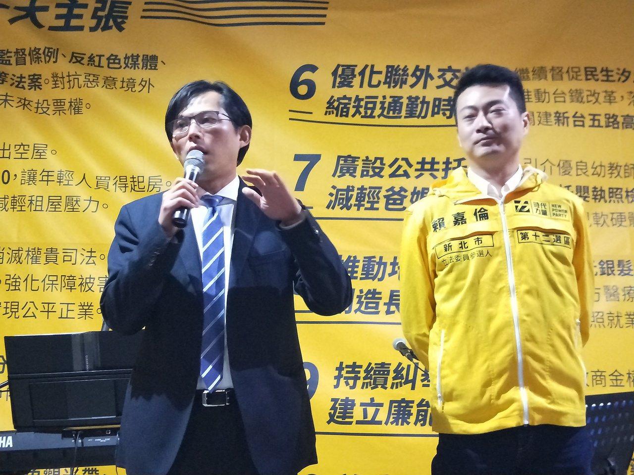 黃國昌力推賴嘉倫 ,以前是他跑金山萬里的分身。記者游明煌/攝影