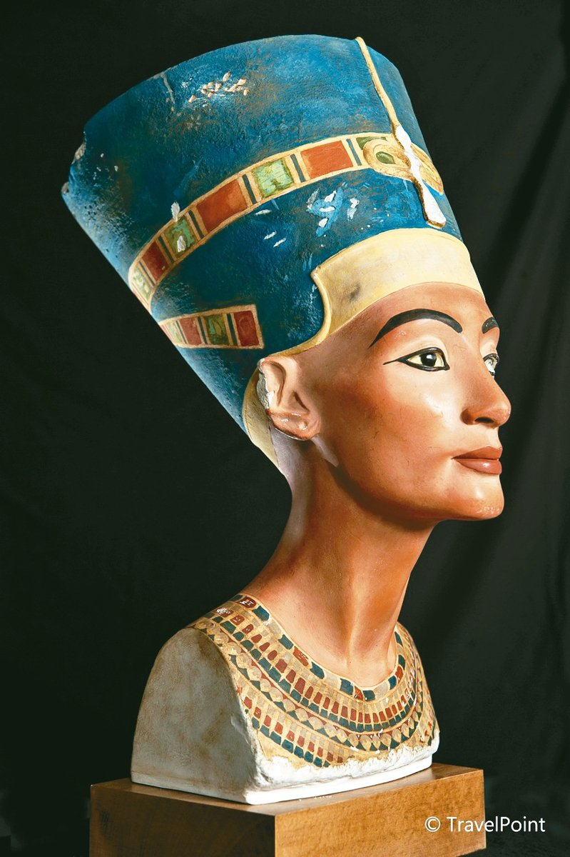 古埃及知名的絕美皇后娜芙蒂蒂半身人像將來台展出。 圖/聯合數位文創提供