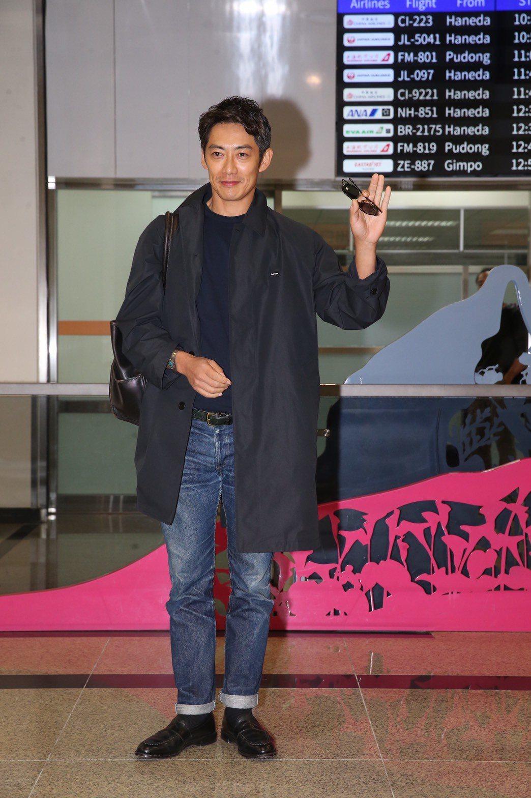 反町隆史抵台參加2019亞洲時尚大賞活動。記者徐兆玄/攝影