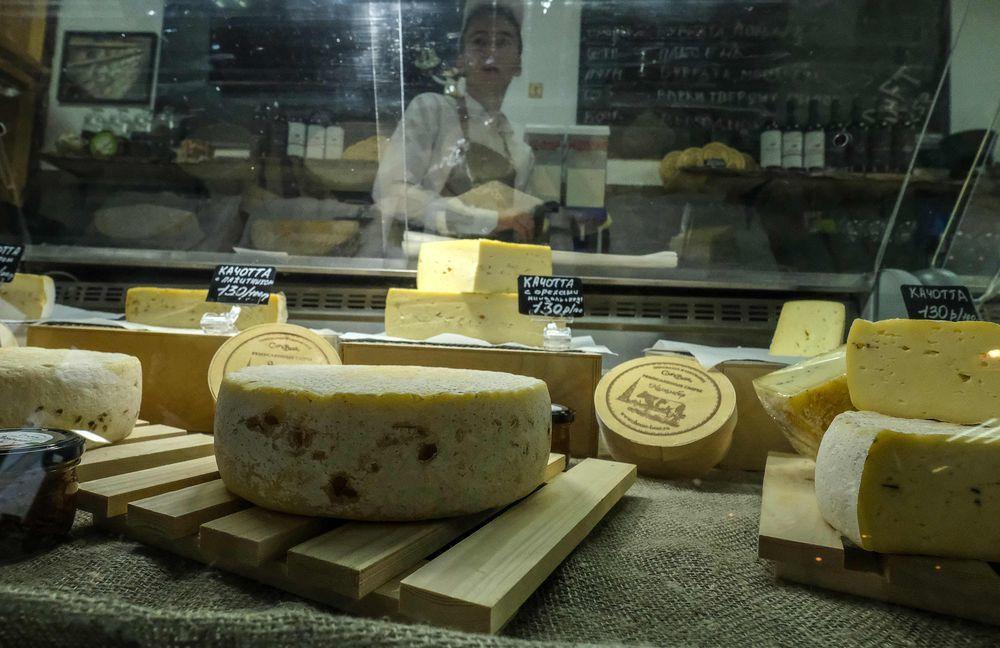 科夫通夫婦製作的乳酪今年在世界乳酪獎獲得金獎。(法新社)