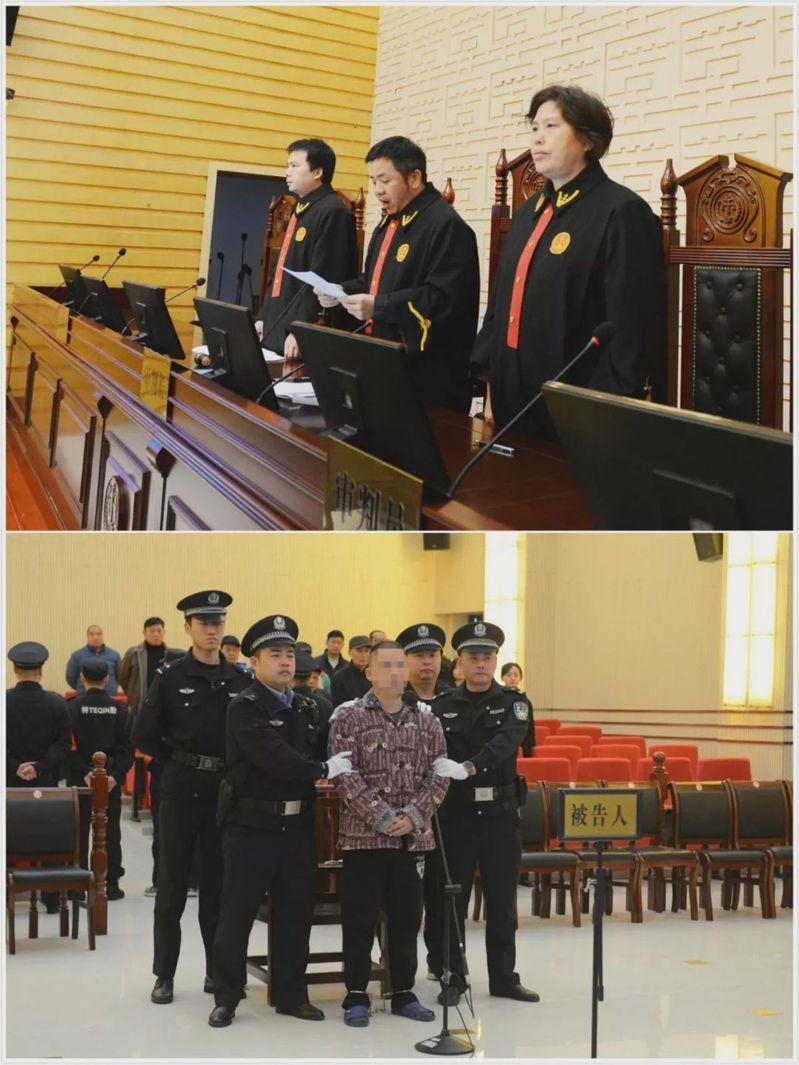 江西一名王姓男子在今年五月闖入上饒市第五小學,持刀刺傷一名劉姓男學生。圖翻攝自微博