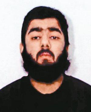 英國倫敦橋29日發生恐攻事件,六名路人將28歲的凶嫌烏斯曼.可汗(Usman K...