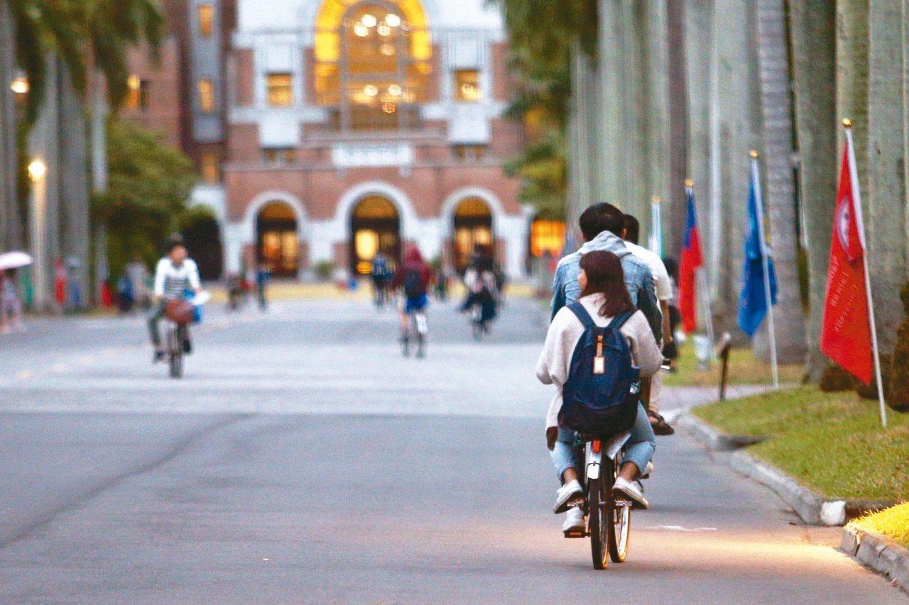 台大明年也首度在申請入學增辦「希望組」有34名額,包括熱門的醫學系、法律系、外文...