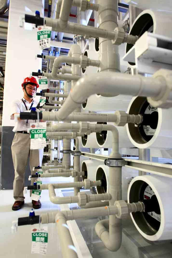 台積建置各種廢水回收系統,將每日使用的自來水全數回收、循環利用,達到一滴水進入台...
