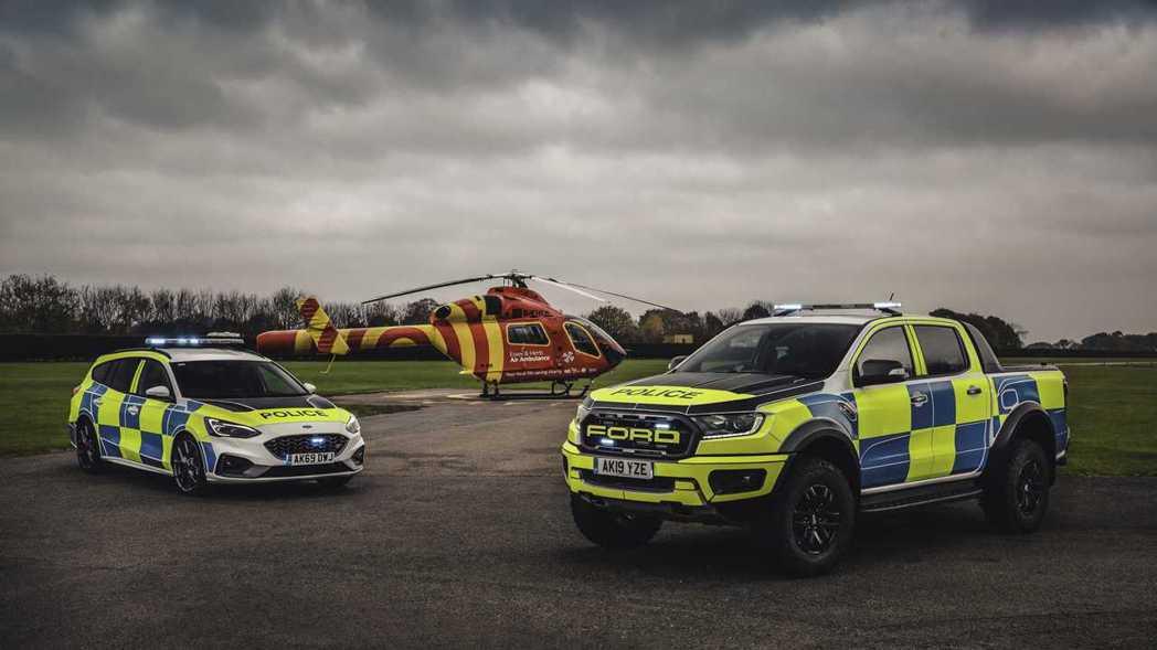Ford Focus ST Wagon及Ranger Raptor將加入英國警隊...