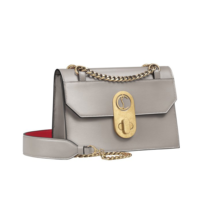 Elisa銀色小型手袋,價格店洽。圖/Christian Louboutin提供
