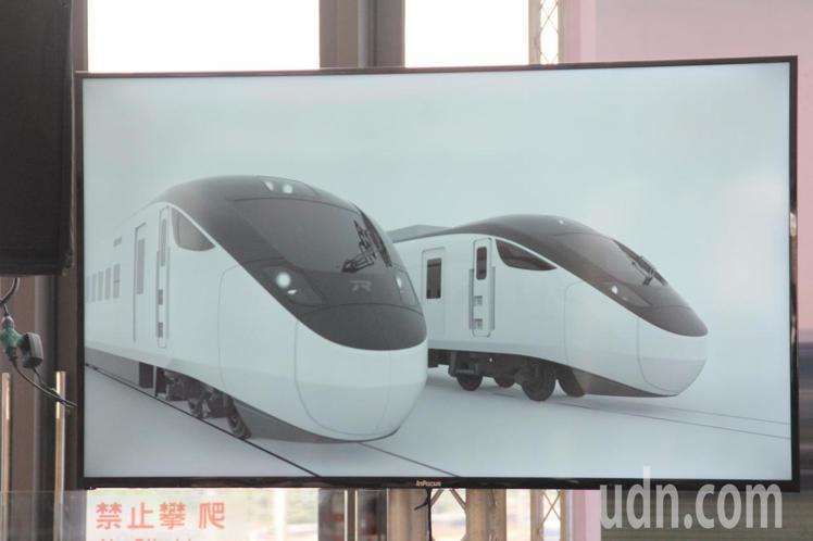 台鐵新採購的城際列車,採黑白極簡風設計,很有科技感。記者王燕華/攝影