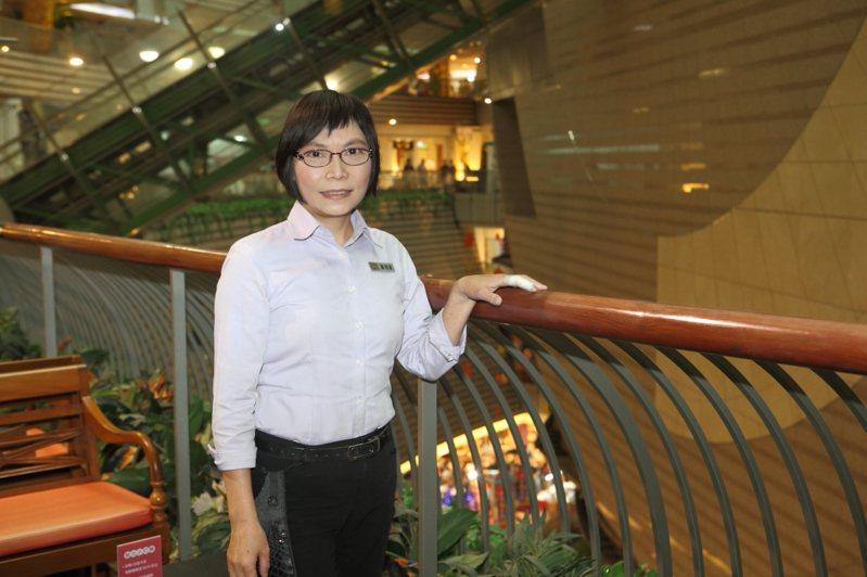 京華城客服課副理蕭湘湄,從京華城土地開發任職至今,已有26年時光。記者陳睿中/攝影