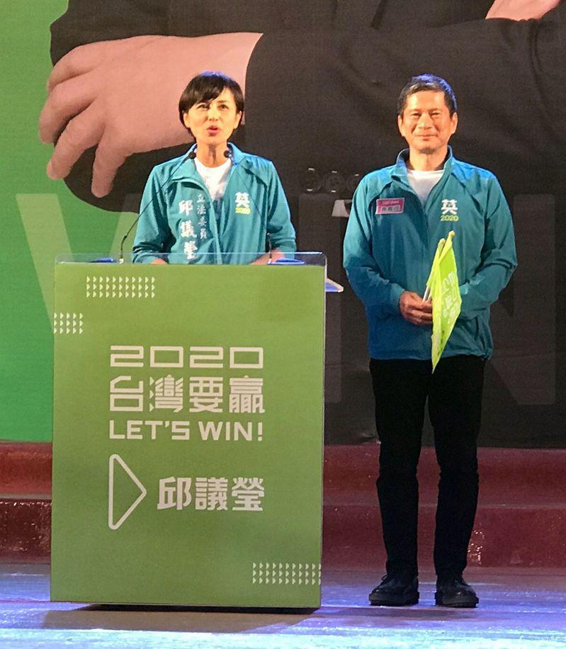 邱議瑩自曝,去年九合一選後,差點退出政壇。記者王昭月/攝影