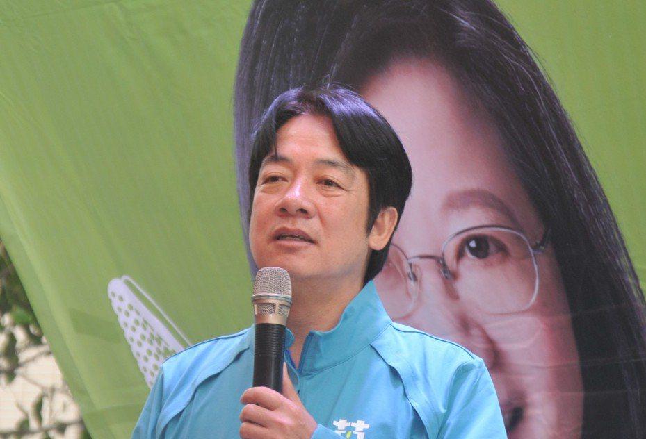 民進黨副總統參選人賴清德。聯合報系資料照片/記者游明煌攝影
