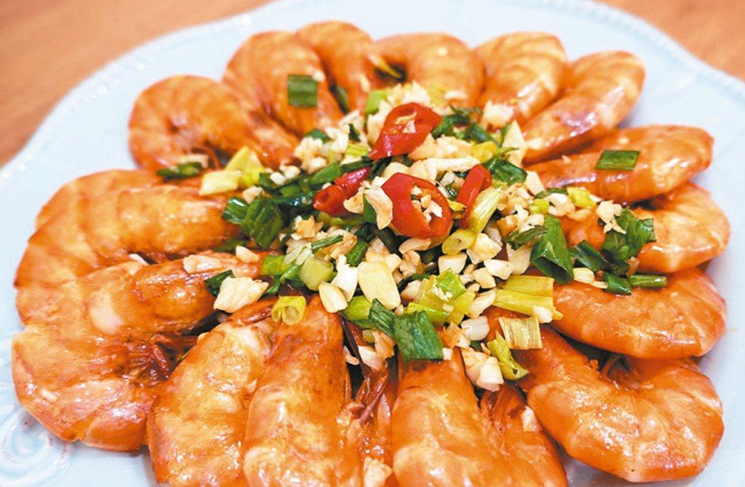 蔥爆奶油蝦