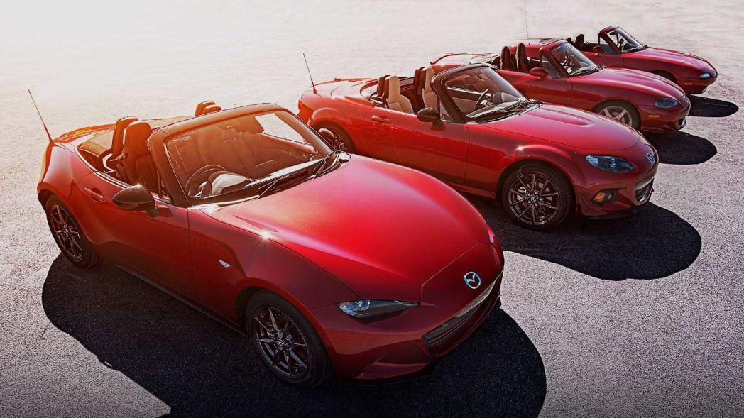 Mazda MX-5歷經四代人氣歷久不衰。 摘自Mazda