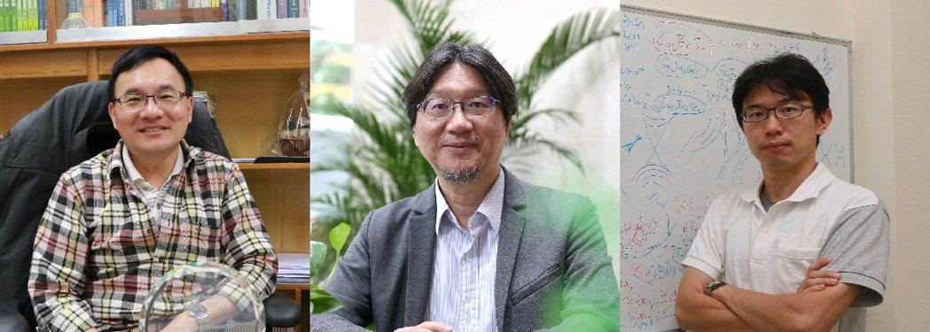 成功大學航太系教授陳維新(左起)、化工系教授張嘉修、和物理系教授張泰榕。 成功大...