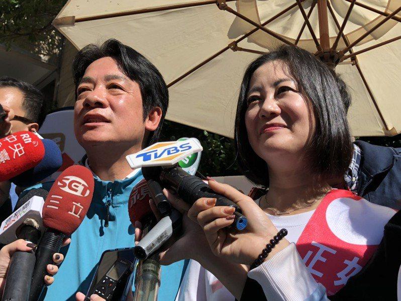 民進黨副總統參選人賴清德今出席吳思瑤競選總部成立大會記者。記者賴于榛/攝影