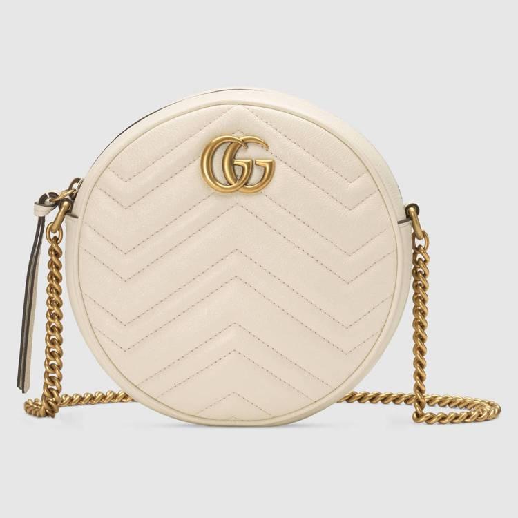 GG Marmont圓形鍊帶包(白) ,39,900 (1)