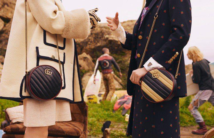 GUCCI今年也推出多款圓形包。圖/Gucci提供