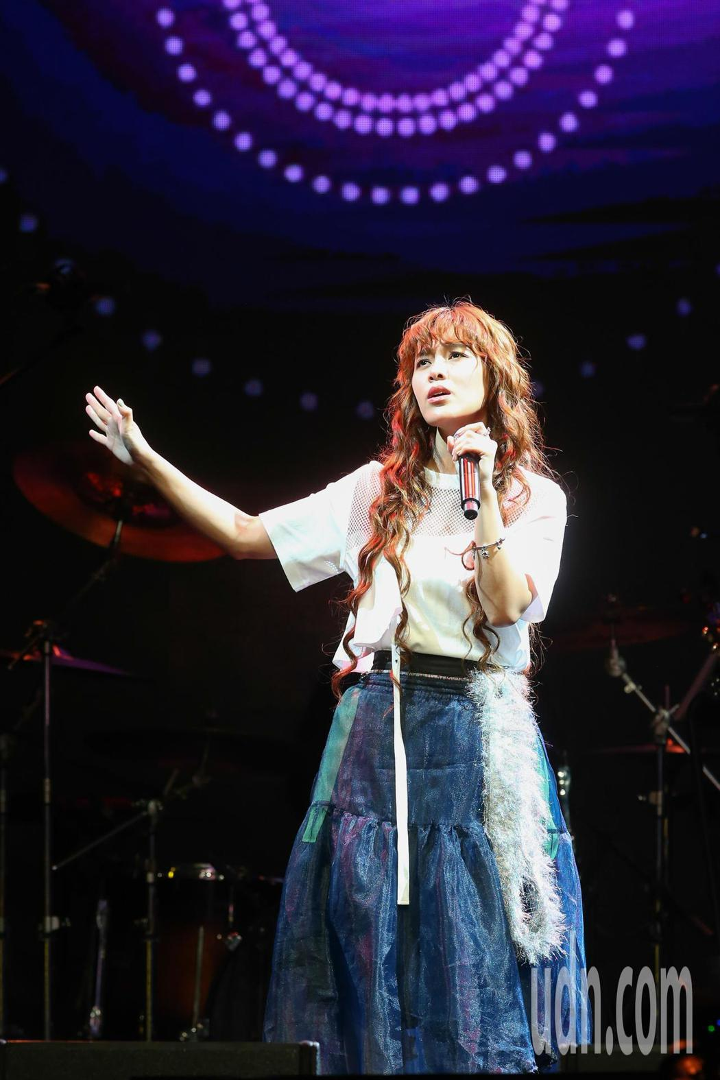 李佳歡今天在台北舉辦「赴約-李佳歡 開放世界」演唱會。記者葉信菉/攝影