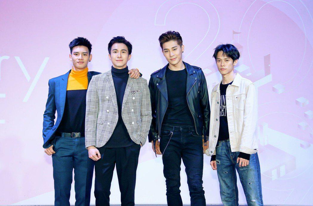 劉韋辰(左起)、張瀚元、宋緯恩、黃雋智。圖/LINE TV提供