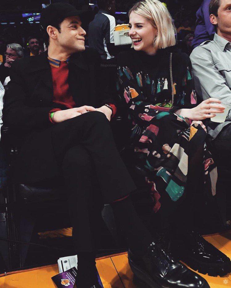 雷米馬利克和露西波頓近日被拍到一起現身NBA球場。圖/摘自IG