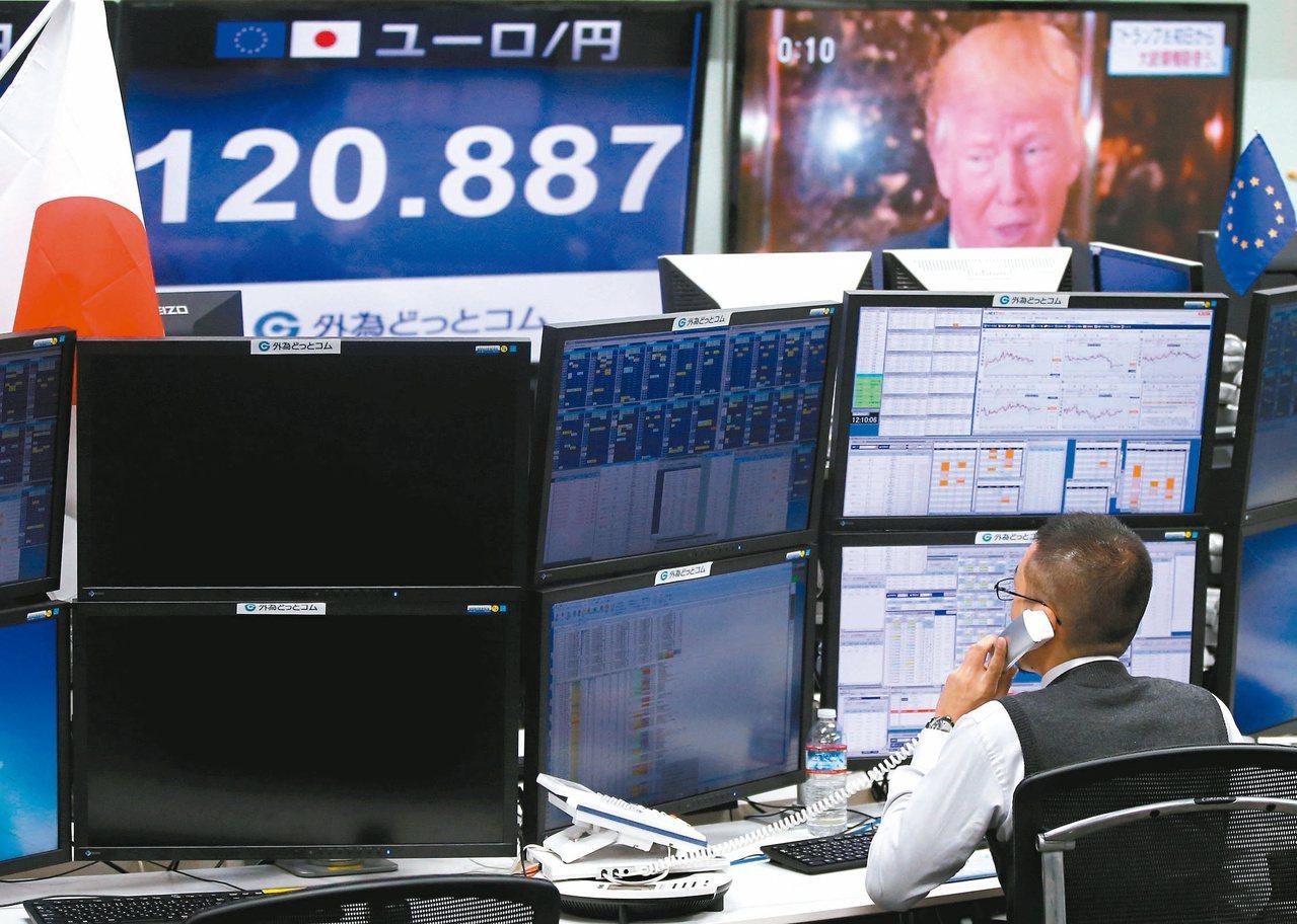 美國總統川普的財經政策將是國際股匯市的一大變數。圖為東京股市。(路透)