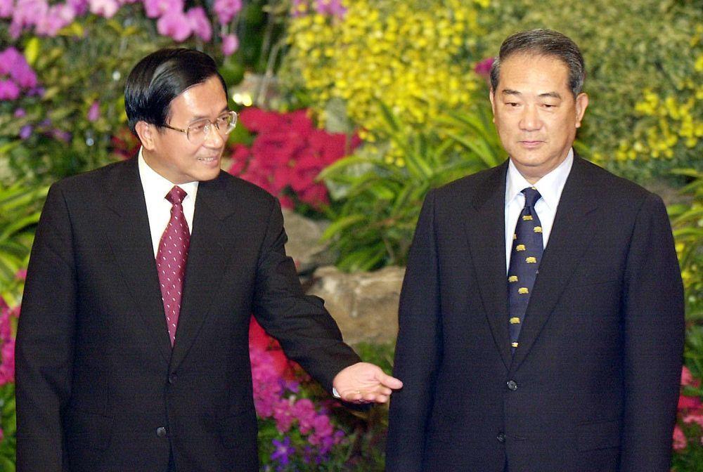 當年的陳水扁(左)與宋楚瑜。圖/聯合報系資料照片