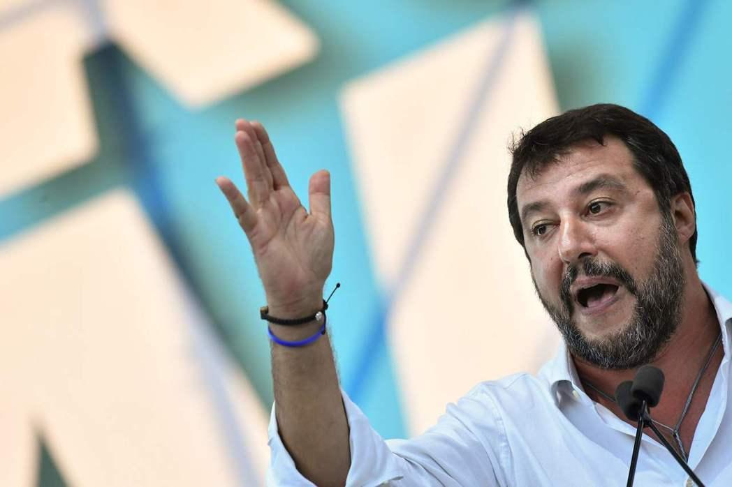 薩維尼領導的聯盟黨現為義大利最大黨。(法新社)