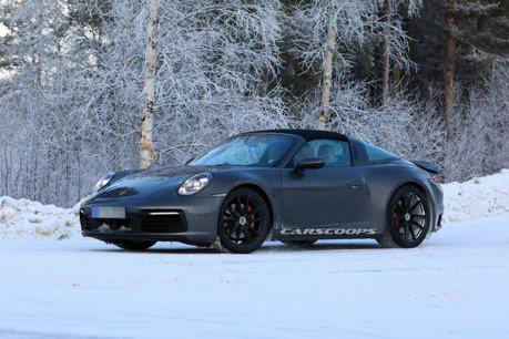 2020 Porsche 911 Targa美背現蹤 雪地測試進行中